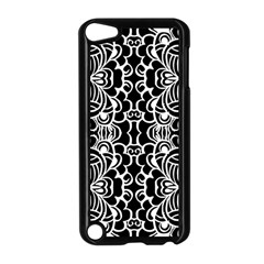 Psychedelic Pattern Flower Black Apple Ipod Touch 5 Case (black) by Mariart