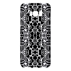 Psychedelic Pattern Flower Black Samsung Galaxy S8 Plus Hardshell Case  by Mariart