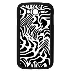 Psychedelic Zebra Black White Line Samsung Galaxy Grand Duos I9082 Case (black) by Mariart
