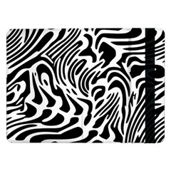 Psychedelic Zebra Black White Line Samsung Galaxy Tab Pro 12 2  Flip Case by Mariart