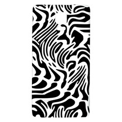 Psychedelic Zebra Black White Line Galaxy Note 4 Back Case by Mariart