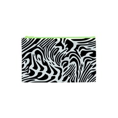 Psychedelic Zebra Black White Line Cosmetic Bag (xs) by Mariart