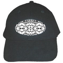 Psychedelic Pattern Flower Crown Black Flower Black Cap