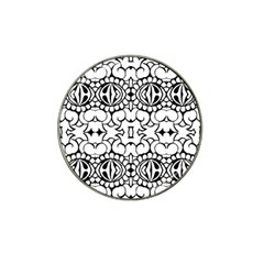 Psychedelic Pattern Flower Crown Black Flower Hat Clip Ball Marker (10 Pack) by Mariart