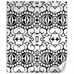 Psychedelic Pattern Flower Crown Black Flower Canvas 20  X 24