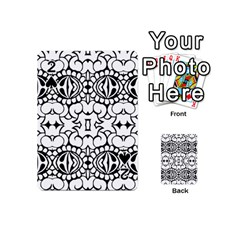 Psychedelic Pattern Flower Crown Black Flower Playing Cards 54 (mini)  by Mariart