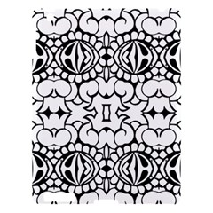 Psychedelic Pattern Flower Crown Black Flower Apple Ipad 3/4 Hardshell Case by Mariart