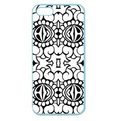 Psychedelic Pattern Flower Crown Black Flower Apple Seamless Iphone 5 Case (color) by Mariart