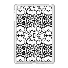 Psychedelic Pattern Flower Crown Black Flower Apple Ipad Mini Case (white) by Mariart