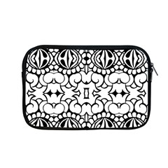 Psychedelic Pattern Flower Crown Black Flower Apple Macbook Pro 13  Zipper Case by Mariart