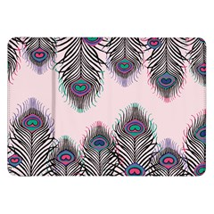 Peacock Feather Pattern Pink Love Heart Samsung Galaxy Tab 8 9  P7300 Flip Case by Mariart