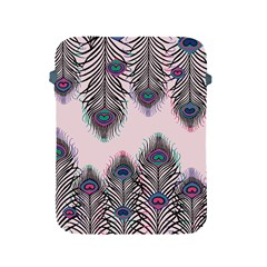 Peacock Feather Pattern Pink Love Heart Apple Ipad 2/3/4 Protective Soft Cases by Mariart