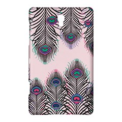 Peacock Feather Pattern Pink Love Heart Samsung Galaxy Tab S (8 4 ) Hardshell Case  by Mariart