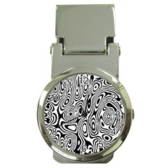 Psychedelic Zebra Black White Money Clip Watches by Mariart