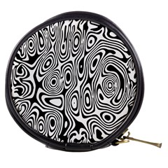 Psychedelic Zebra Black White Mini Makeup Bags by Mariart