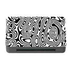 Psychedelic Zebra Black White Memory Card Reader With Cf by Mariart
