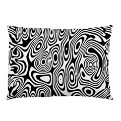 Psychedelic Zebra Black White Pillow Case (two Sides) by Mariart