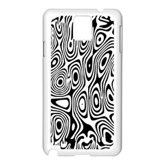 Psychedelic Zebra Black White Samsung Galaxy Note 3 N9005 Case (white) by Mariart