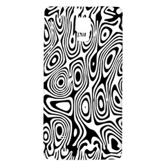 Psychedelic Zebra Black White Galaxy Note 4 Back Case by Mariart
