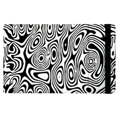 Psychedelic Zebra Black White Apple Ipad Pro 12 9   Flip Case by Mariart