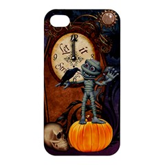 Funny Mummy With Skulls, Crow And Pumpkin Apple Iphone 4/4s Hardshell Case by FantasyWorld7