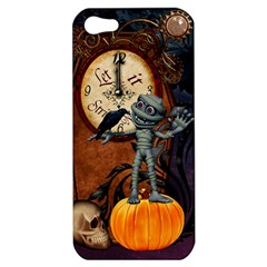 Funny Mummy With Skulls, Crow And Pumpkin Apple Iphone 5 Hardshell Case by FantasyWorld7