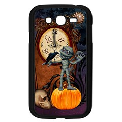 Funny Mummy With Skulls, Crow And Pumpkin Samsung Galaxy Grand Duos I9082 Case (black) by FantasyWorld7