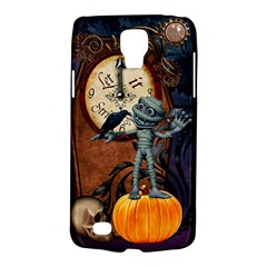 Funny Mummy With Skulls, Crow And Pumpkin Galaxy S4 Active by FantasyWorld7