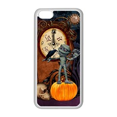 Funny Mummy With Skulls, Crow And Pumpkin Apple Iphone 5c Seamless Case (white) by FantasyWorld7