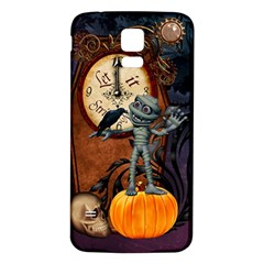 Funny Mummy With Skulls, Crow And Pumpkin Samsung Galaxy S5 Back Case (white) by FantasyWorld7