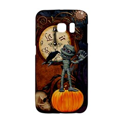 Funny Mummy With Skulls, Crow And Pumpkin Galaxy S6 Edge by FantasyWorld7