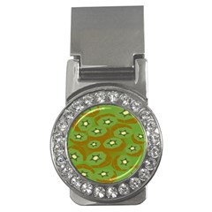 Relativity Pattern Moon Star Polka Dots Green Space Money Clips (cz)  by Mariart