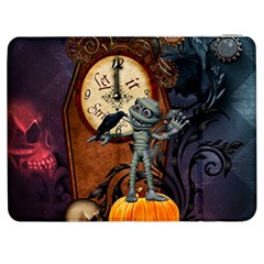 Funny Mummy With Skulls, Crow And Pumpkin Samsung Galaxy Tab 7  P1000 Flip Case by FantasyWorld7