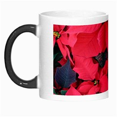 Red Poinsettia Flower Morph Mugs by Mariart