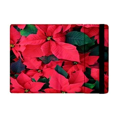 Red Poinsettia Flower Apple Ipad Mini Flip Case by Mariart