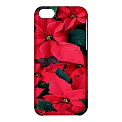 Red Poinsettia Flower Apple Iphone 5c Hardshell Case by Mariart