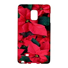 Red Poinsettia Flower Galaxy Note Edge by Mariart