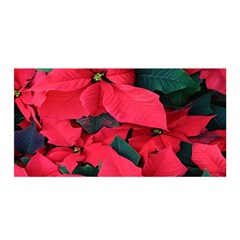 Red Poinsettia Flower Satin Wrap by Mariart
