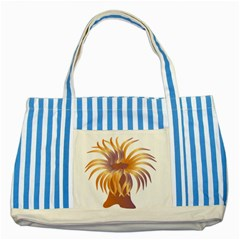 Sea Anemone Striped Blue Tote Bag by Mariart