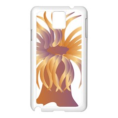 Sea Anemone Samsung Galaxy Note 3 N9005 Case (white) by Mariart