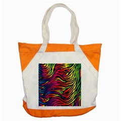 Rainbow Zebra Accent Tote Bag by Mariart