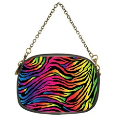 Rainbow Zebra Chain Purses (one Side)  by Mariart