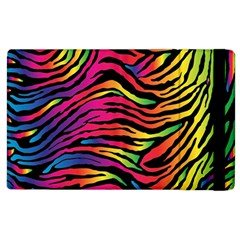 Rainbow Zebra Apple Ipad 2 Flip Case by Mariart
