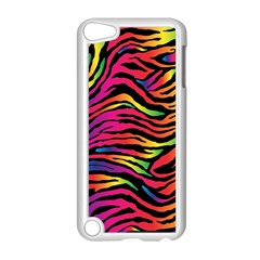 Rainbow Zebra Apple Ipod Touch 5 Case (white) by Mariart