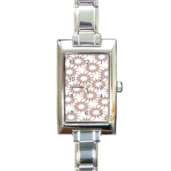 Pattern Flower Floral Star Circle Love Valentine Heart Pink Red Folk Rectangle Italian Charm Watch