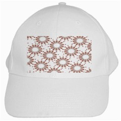 Pattern Flower Floral Star Circle Love Valentine Heart Pink Red Folk White Cap by Mariart