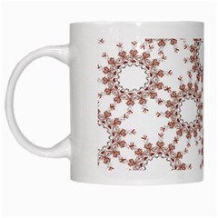 Pattern Flower Floral Star Circle Love Valentine Heart Pink Red Folk White Mugs