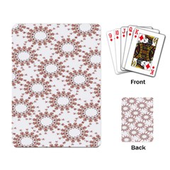 Pattern Flower Floral Star Circle Love Valentine Heart Pink Red Folk Playing Card