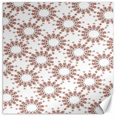 Pattern Flower Floral Star Circle Love Valentine Heart Pink Red Folk Canvas 20  X 20   by Mariart
