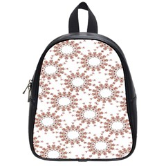 Pattern Flower Floral Star Circle Love Valentine Heart Pink Red Folk School Bag (small) by Mariart